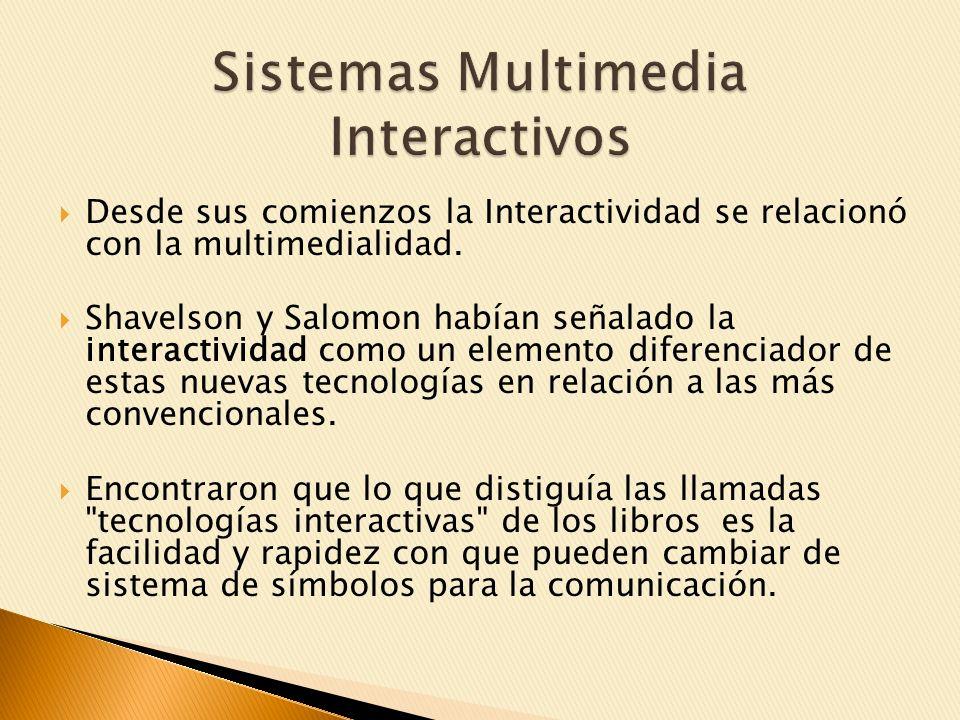 Sistema multimedia es aquel capaz de presentar información textual, sonora y audiovisual de modo coordinado: gráficos, fotos, secuencias animadas de vídeo, gráficos animados, sonidos y voces, textos… Un elemento fundamental de los sistemas multimedia es la integración de los diferentes medios en un objetivo de aprendizaje común.
