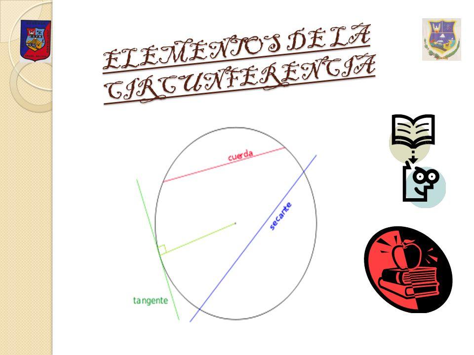 Una circunferencia es un conjunto de puntos del plano equidistantes de otro fijo, llamado centro; esta distancia se denomina radio.