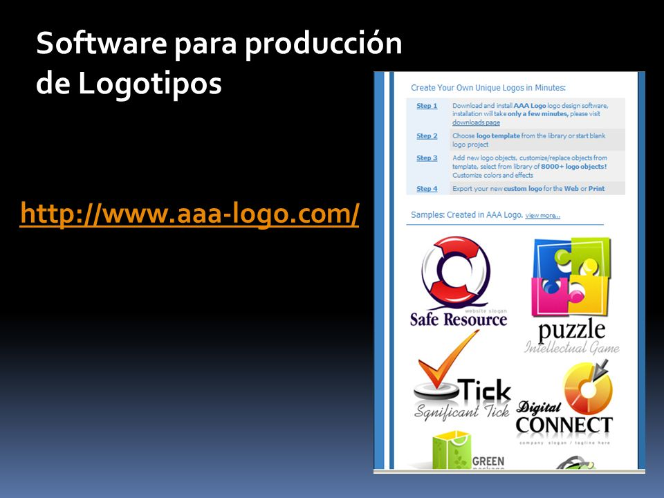 Software para producción de Logotipos http://www.aaa-logo.com/