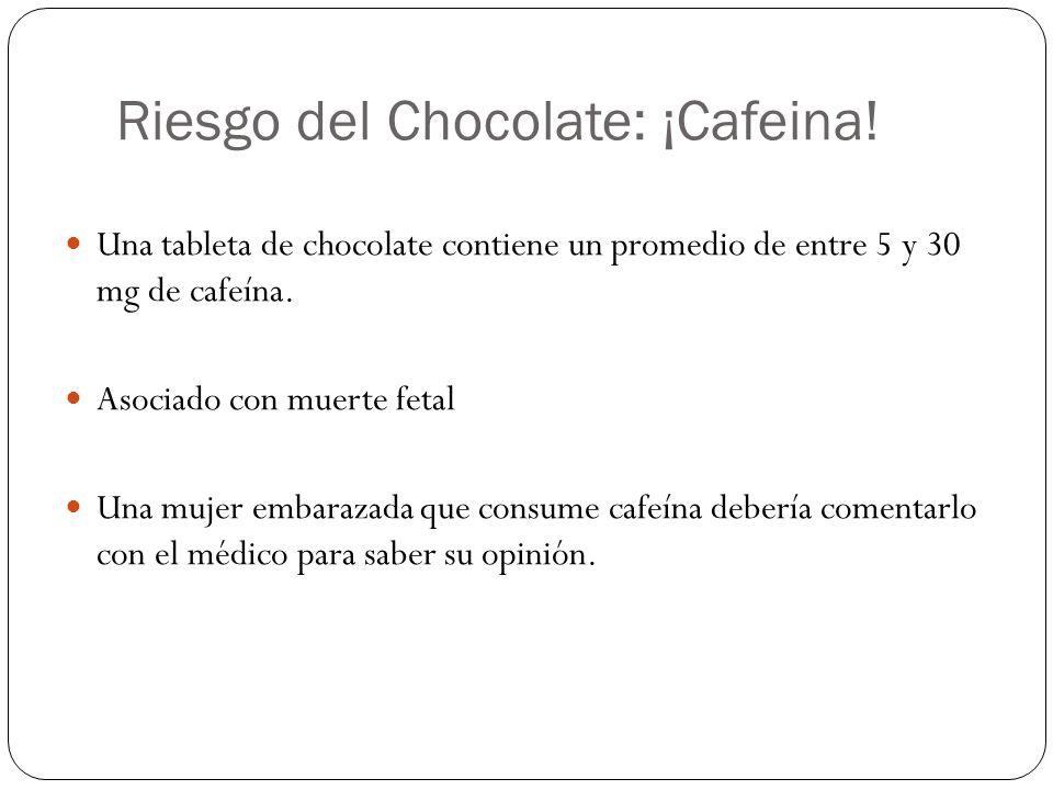 Riesgo del Chocolate: ¡Cafeina.