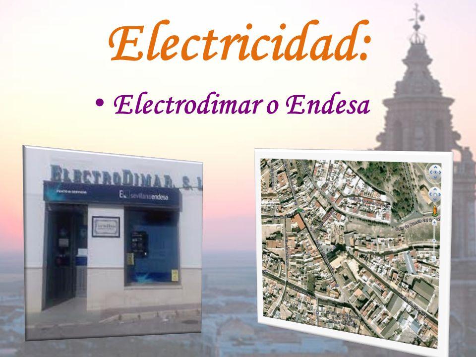 Electricidad: E lectrodimar o Endesa