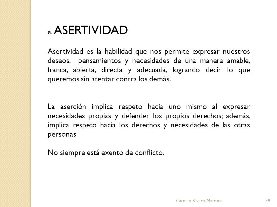 Carmen Rivero.