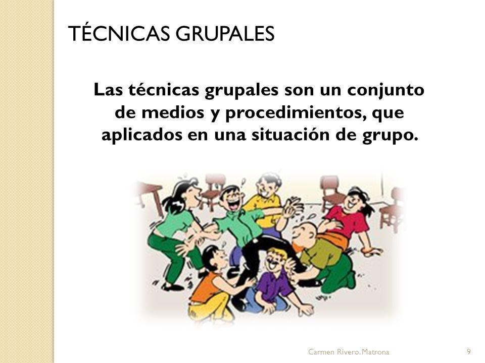 Carmen Rivero. Matrona10 OBJETIVOS GRATIFICACIÓN PRODUCTIVIDAD TÉCNICAS GRUPALES