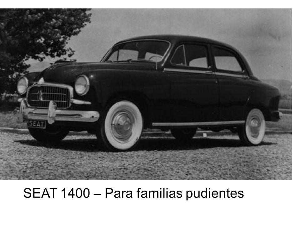 SEAT 1400 – Para familias pudientes