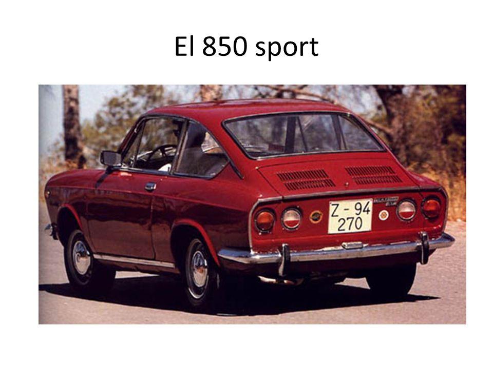 Siguiendo con Seat, la otra gran estrella, el 850 Y recordad que el 850 tenía su versión sport; para los bacalutis de entonces…