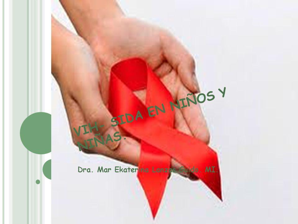 CLASIFICACIÓN DE LA OMS PARA INMUNODEFICIENCIA ASOCIADA A VIH EN LACTANTES Y NIÑOS/NIÑAS Categorías Clínicas Categoría N : Asintomático Categoría A: Señales yo síntomas leves: presencia de 2 ó más de las condiciones Linfadenopatía (mayor a 0.5 cm en más de 2 cadenas diferentes).