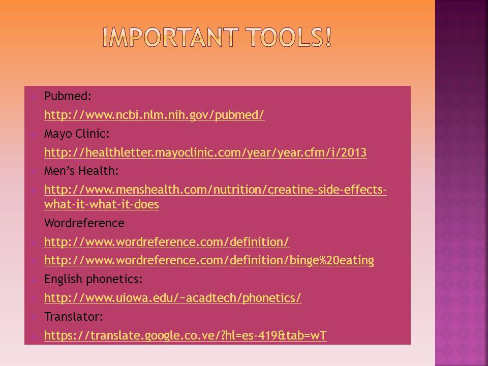 Pubmed: http://www.ncbi.nlm.nih.gov/pubmed/ Mayo Clinic: http://healthletter.mayoclinic.com/year/year.cfm/i/2013 Mens Health: http://www.menshealth.co