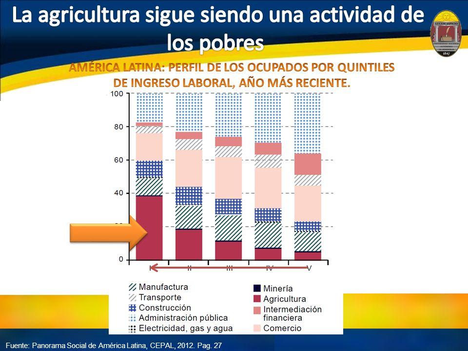 Fuente: Panorama Social de América Latina, CEPAL, 2012. Pag. 27