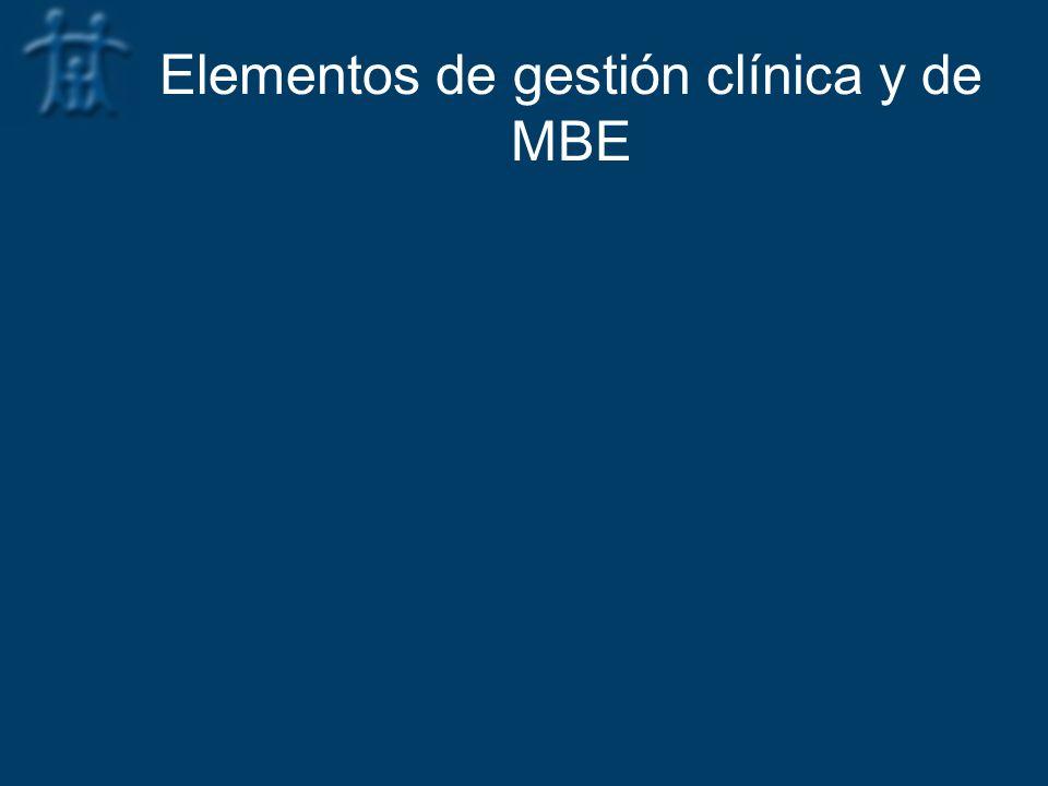 Elementos de gestión clínica y de MBE