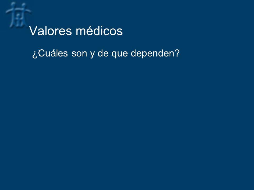 Valores médicos ¿Cuáles son y de que dependen?