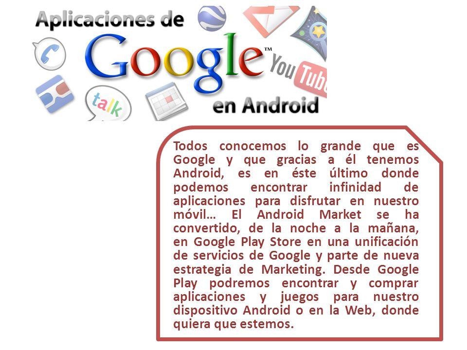 Todos conocemos lo grande que es Google y que gracias a él tenemos Android, es en éste último donde podemos encontrar infinidad de aplicaciones para d