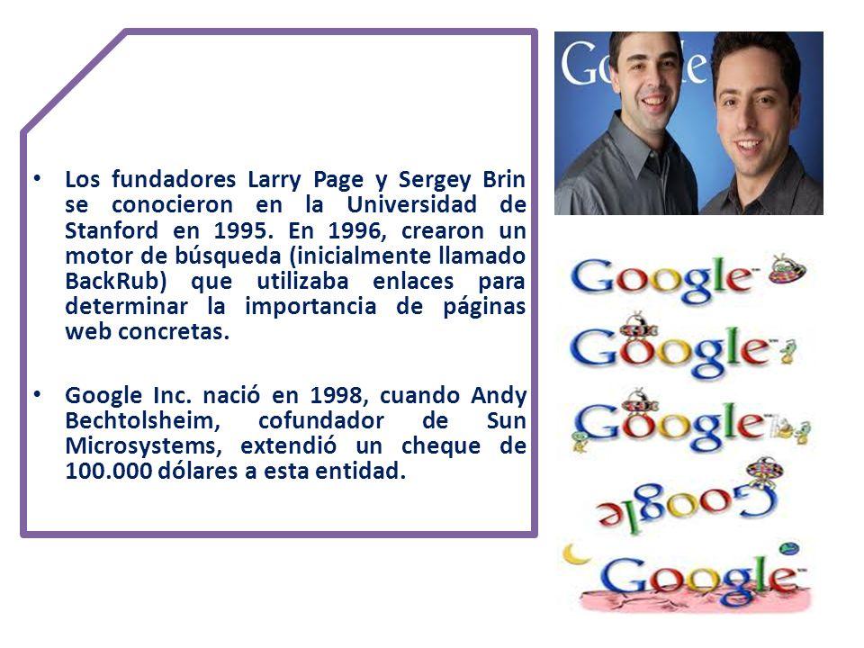 10 principios de Google 1.Piensa en el usuario y lo demás vendrá solo 1.