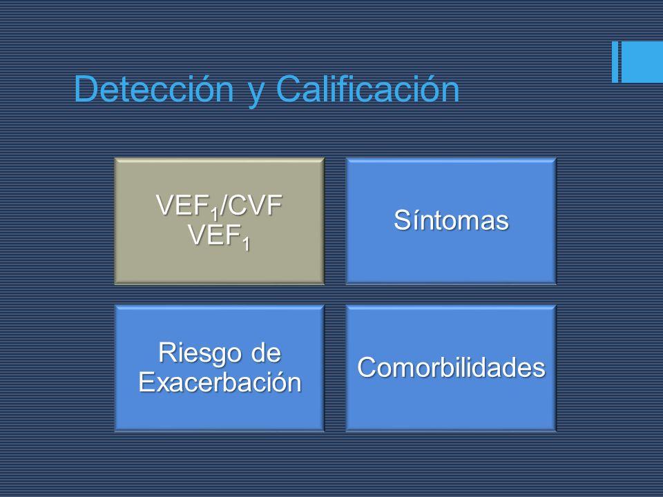 VEF 1 /CVF VEF 1 Síntomas Riesgo de Exacerbación Comorbilidades Detección y Calificación