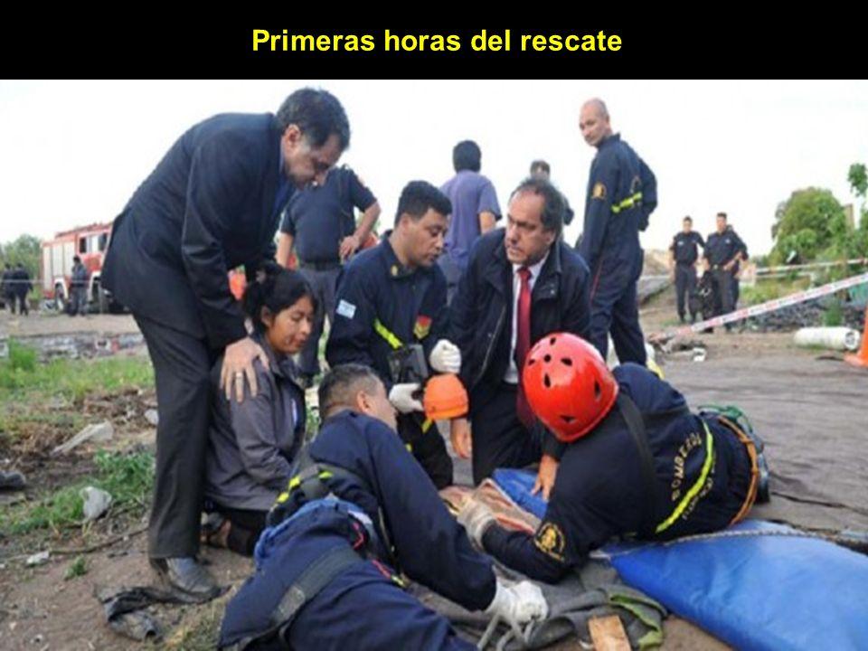 Primeras horas del rescate
