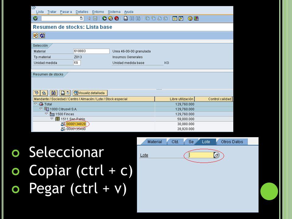 Seleccionar Copiar (ctrl + c) Pegar (ctrl + v)
