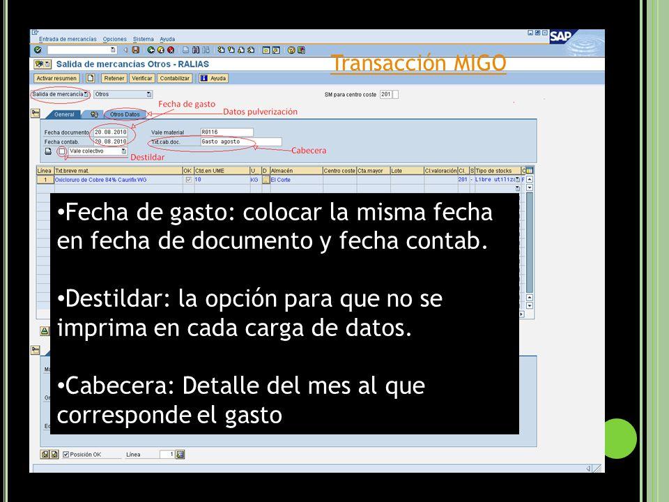 Para todos los campos ingresamos directamente el código o hacemos clic en,con lo que se despliega una ventana: