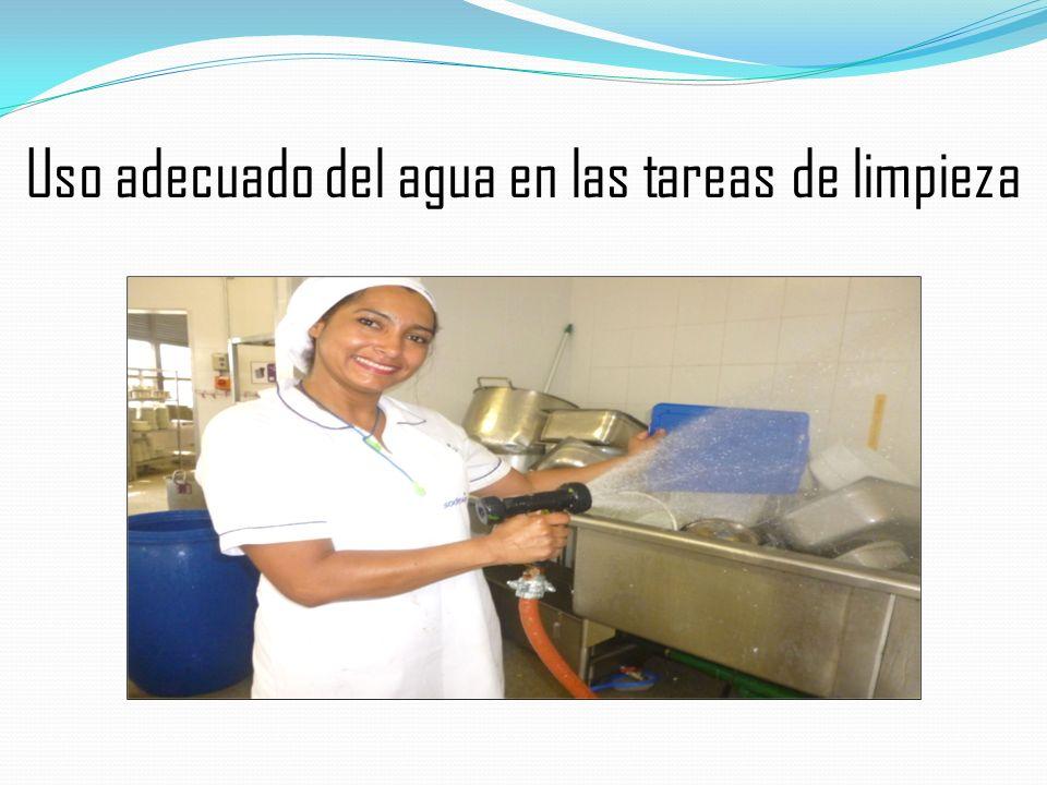 Uso adecuado del agua en las tareas de limpieza