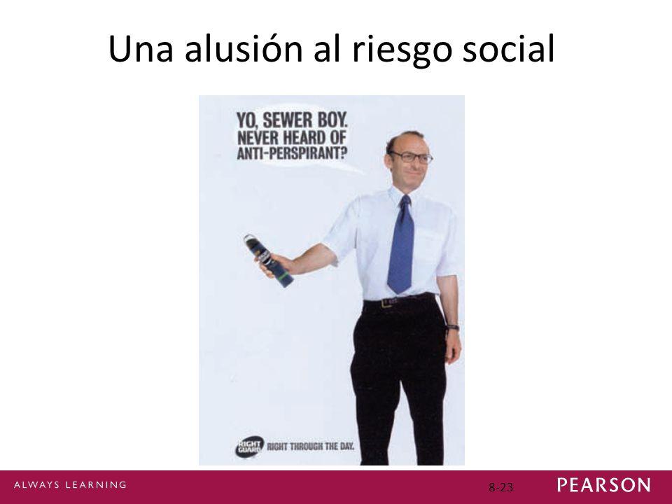 8-23 Una alusión al riesgo social