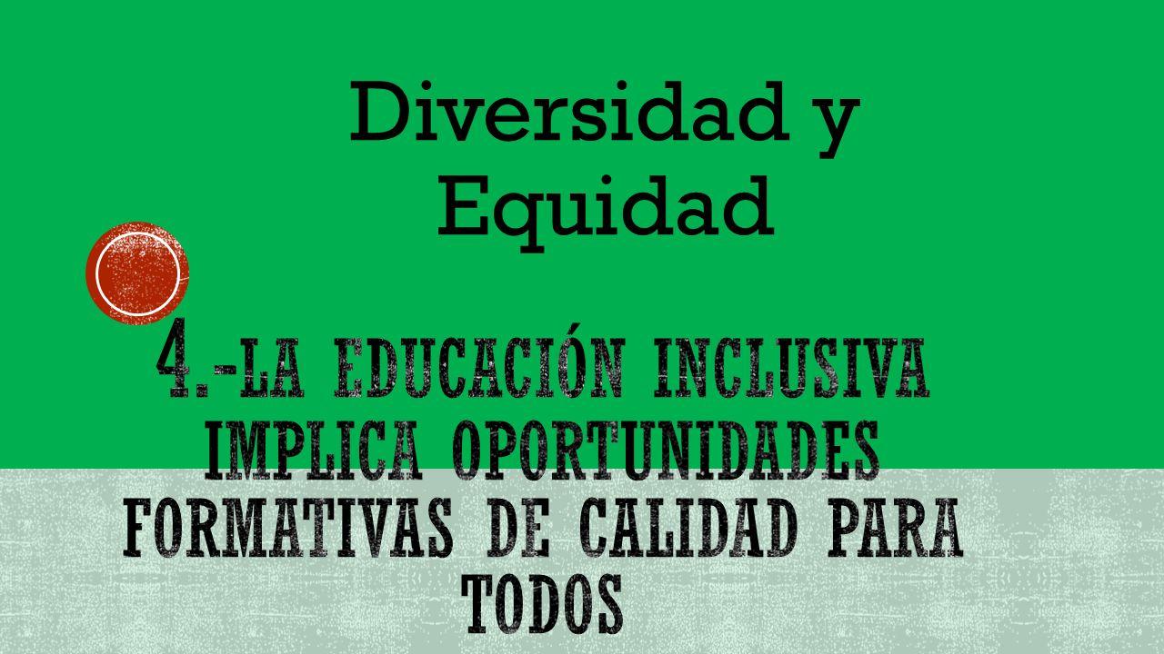 La educación es un derecho fundamental y una estrategia para ampliar oportunidades, instrumentar las necesidades interculturales, reducir las desigualdades entre grupos sociales, cerrar brechas e impulsar la equidad, en el cual el sistema educativo lo hace con el fin de ofrecer una educación pertinente e inclusiva.