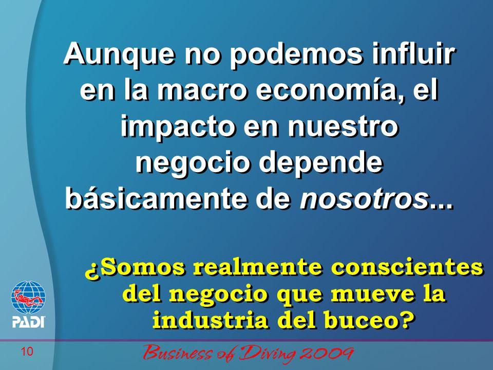 10 Aunque no podemos influir en la macro economía, el impacto en nuestro negocio depende básicamente de nosotros...