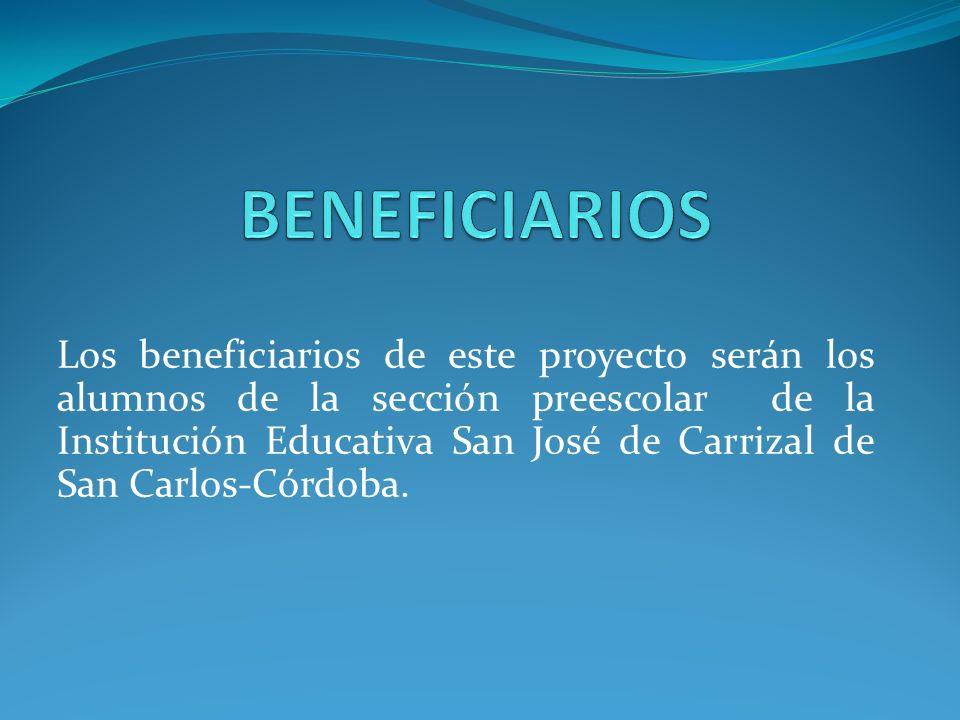 Los alumnos del grado primero grupo 1° de la Institución Educativa San José de carrizal del municipio de San Carlos departamento de Córdoba estarán en