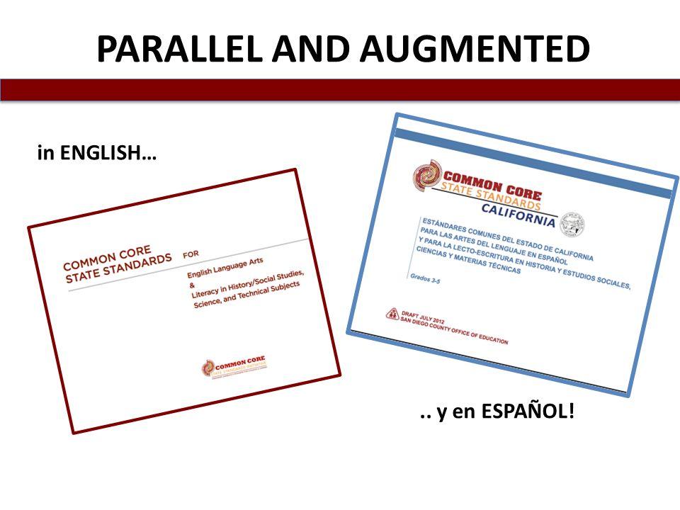 in ENGLISH….. y en ESPAÑOL! PARALLEL AND AUGMENTED