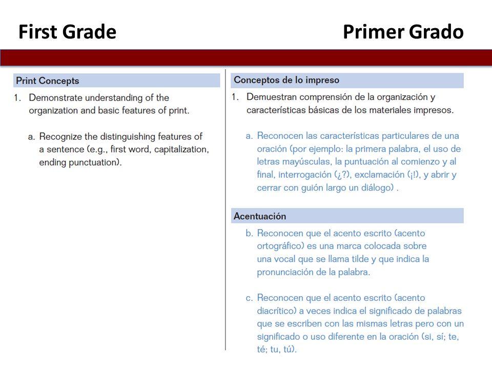 First GradePrimer Grado
