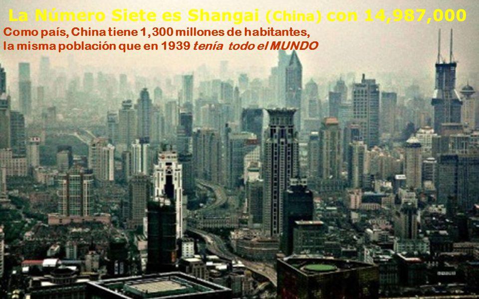 La número SEIS es Delhi (India) con 15,426,000