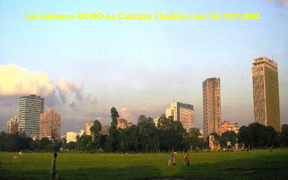 La Número Siete es Shangai (China) con 14,987,000 Como país, China tiene 1,300 millones de habitantes, la misma población que en 1939 tenía t odo el MUNDO