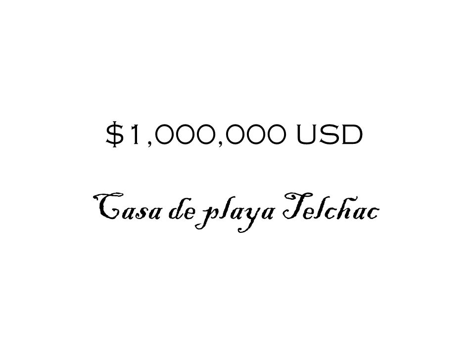 $1,000,000 USD Casa de playa Telchac