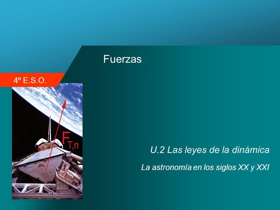 4º E.S.O. Fuerzas U.2 Las leyes de la dinámica La astronomía en los siglos XX y XXI