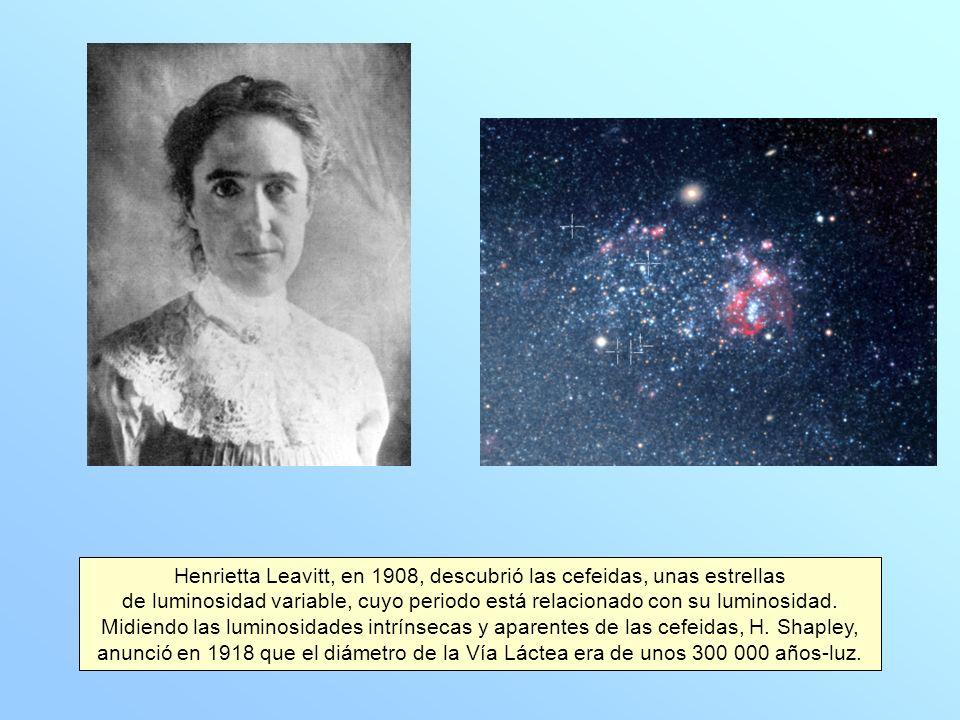 Henrietta Leavitt, en 1908, descubrió las cefeidas, unas estrellas de luminosidad variable, cuyo periodo está relacionado con su luminosidad.
