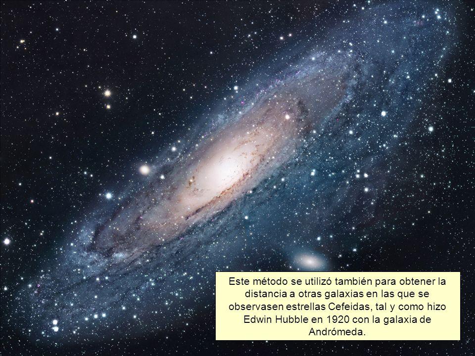 Este método se utilizó también para obtener la distancia a otras galaxias en las que se observasen estrellas Cefeidas, tal y como hizo Edwin Hubble en 1920 con la galaxia de Andrómeda.