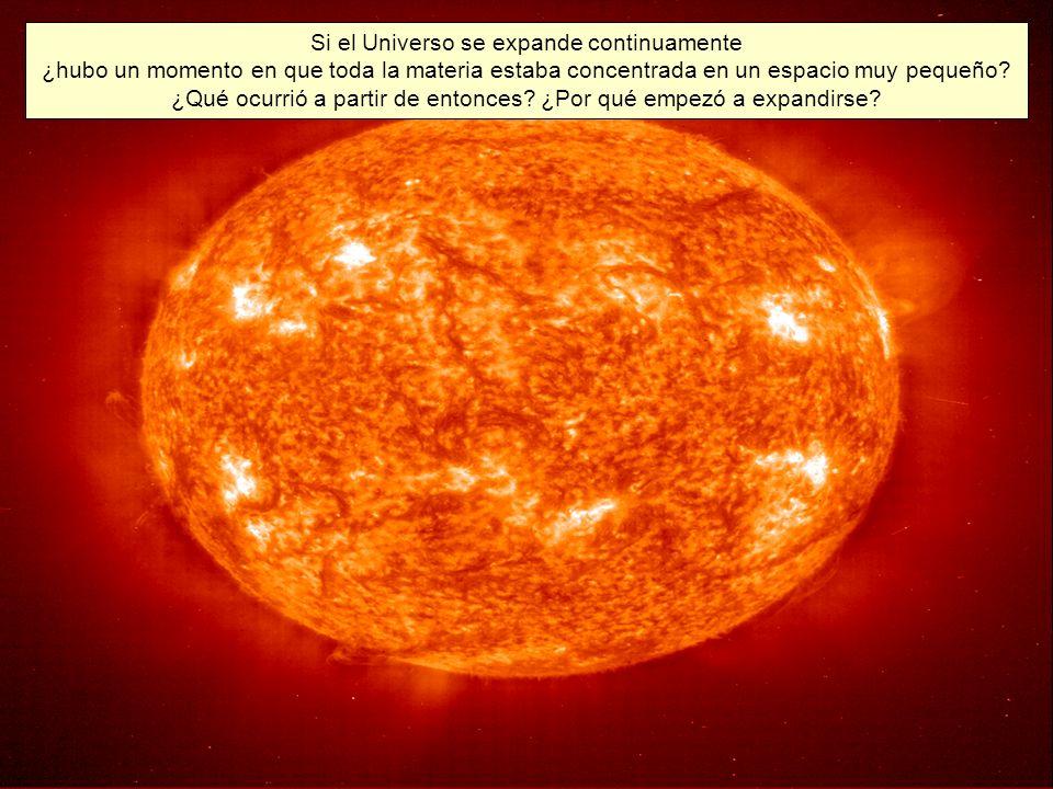 Si el Universo se expande continuamente ¿hubo un momento en que toda la materia estaba concentrada en un espacio muy pequeño.