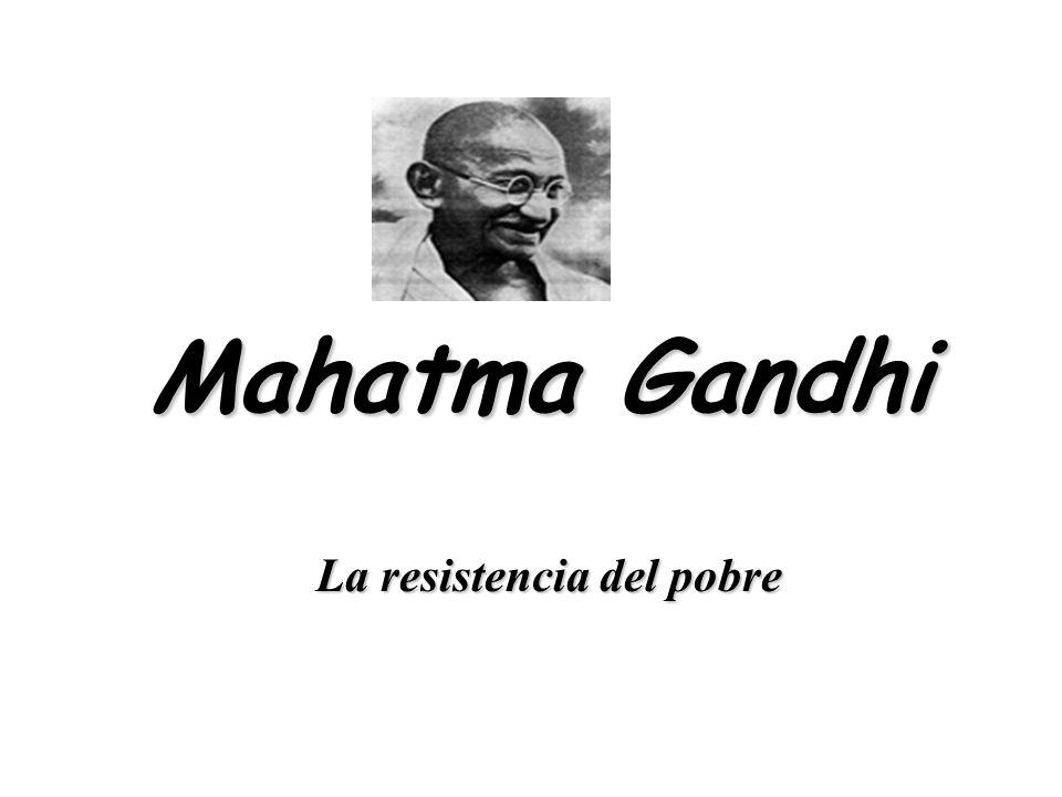 De allí se origina la resistencia civil... Del pobre al rico, sin usar las armas