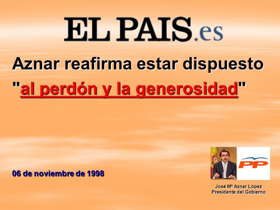 Aznar reafirma estar dispuesto