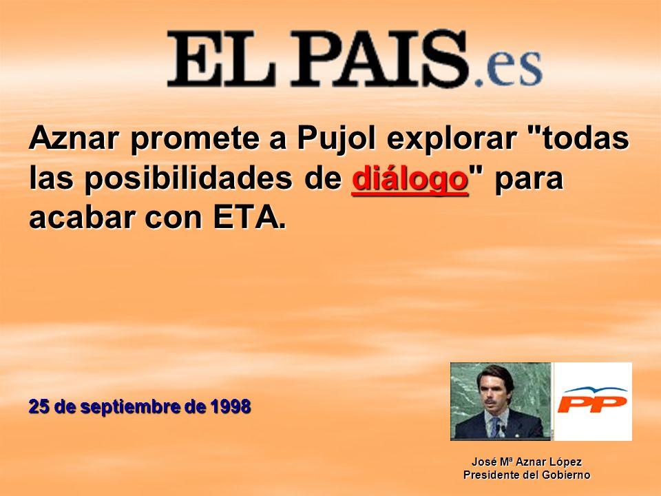 Aznar promete a Pujol explorar