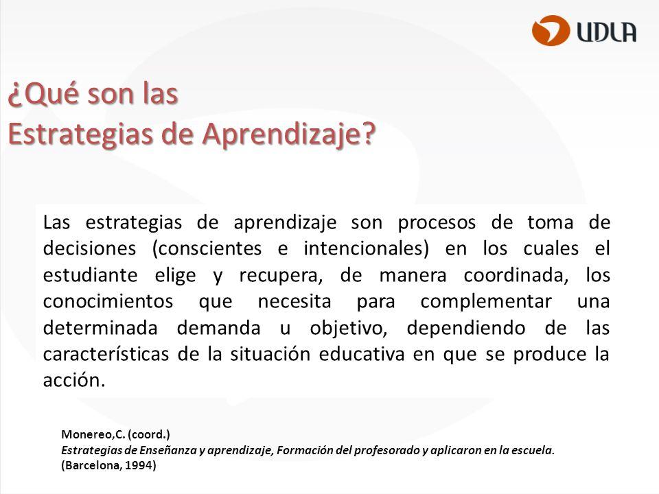 La relación de Estrategias y Aprendizaje Significativo Estrategias y aprendizaje declarativo.
