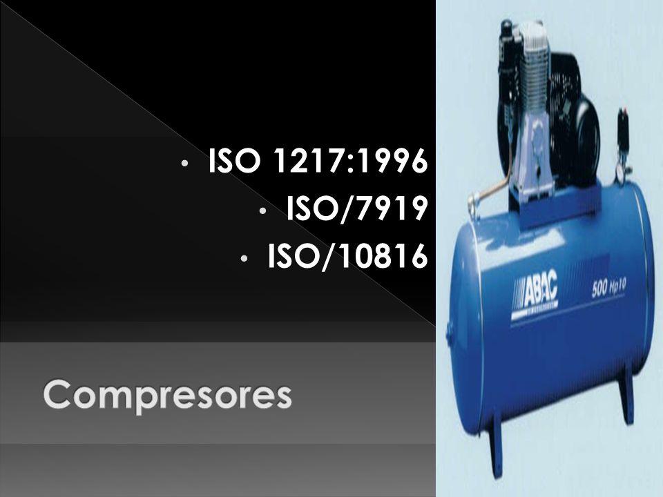 ISO 1217:1996 ISO/7919 ISO/10816