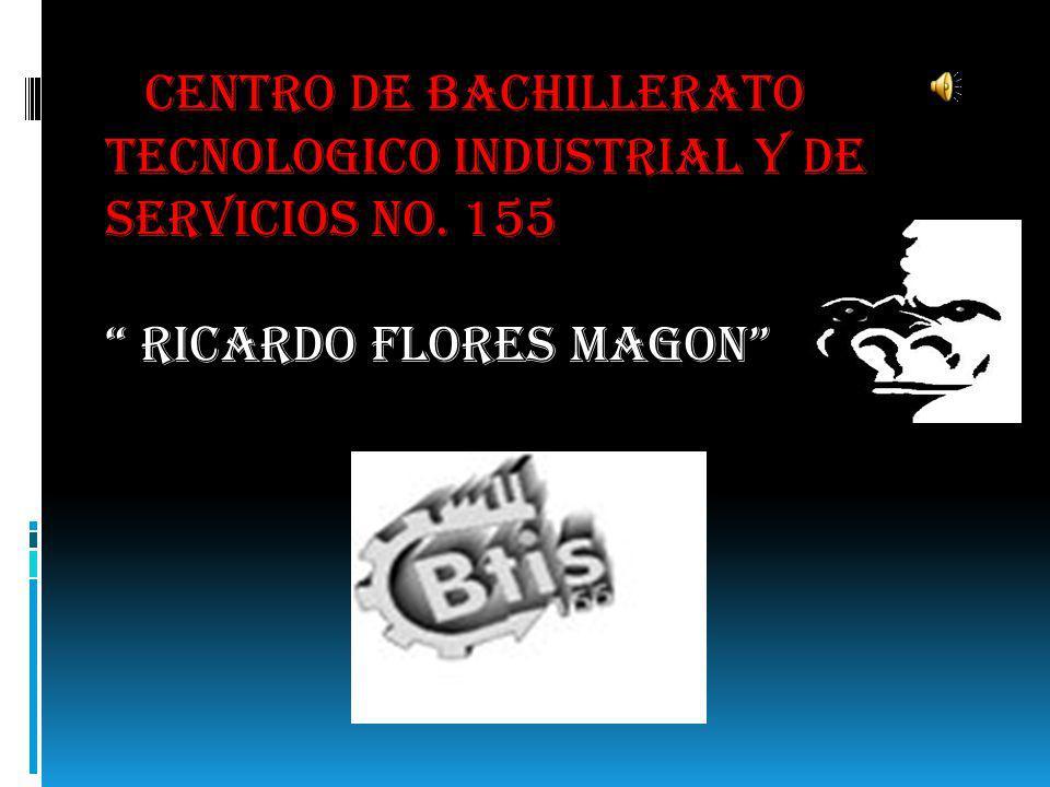 CENTRO DE BACHILLERATO TECNOLOGICO INDUSTRIAL Y DE SERVICIOS NO. 155 RICARDO FLORES MAGON