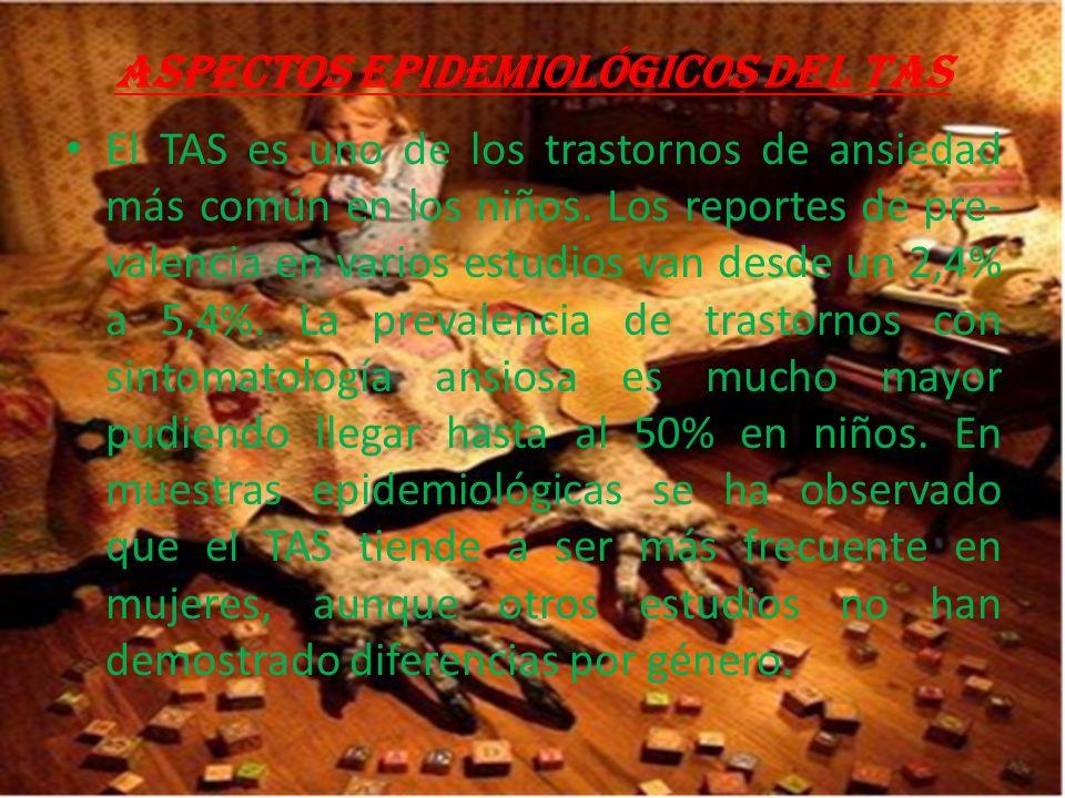 Aspectos epidemiológicos del TAS El TAS es uno de los trastornos de ansiedad más común en los niños.