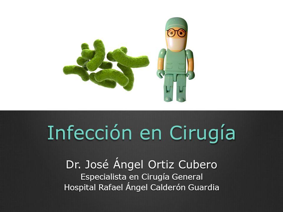 Infección en Cirugía Dr. José Ángel Ortiz Cubero Especialista en Cirugía General Hospital Rafael Ángel Calderón Guardia