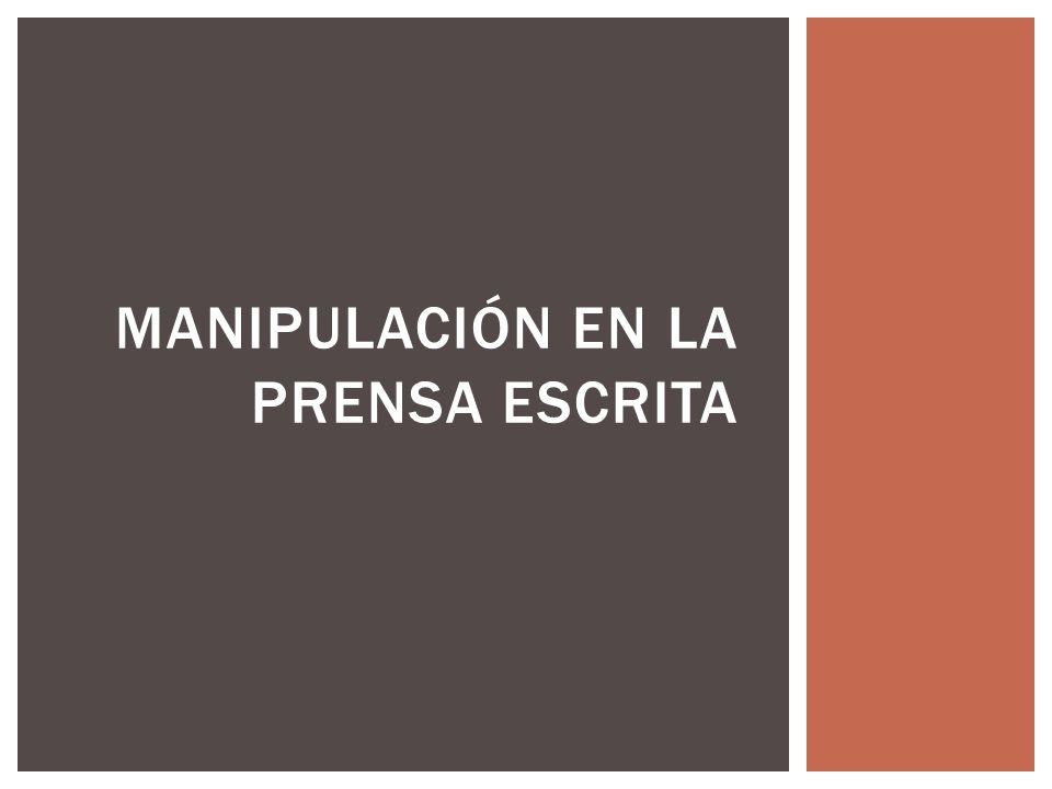 Las 10 estrategias de manipulación mediática, son un decálogo escrito por el lingüista Noam Chomsky, que exponen la responsabilidad de los medios masivos en la enajenación de la sociedad.