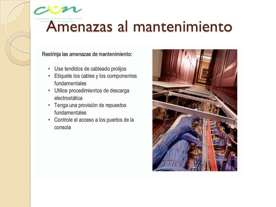 Amenazas al mantenimiento