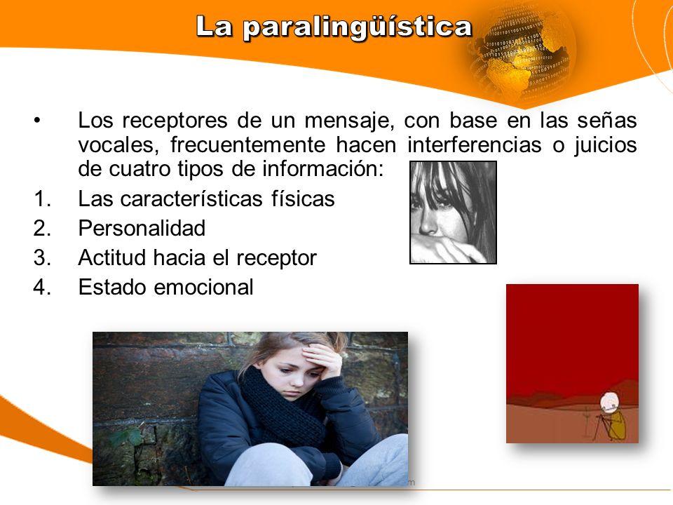 silviacapacitaciones@hotmail.com Los receptores de un mensaje, con base en las señas vocales, frecuentemente hacen interferencias o juicios de cuatro