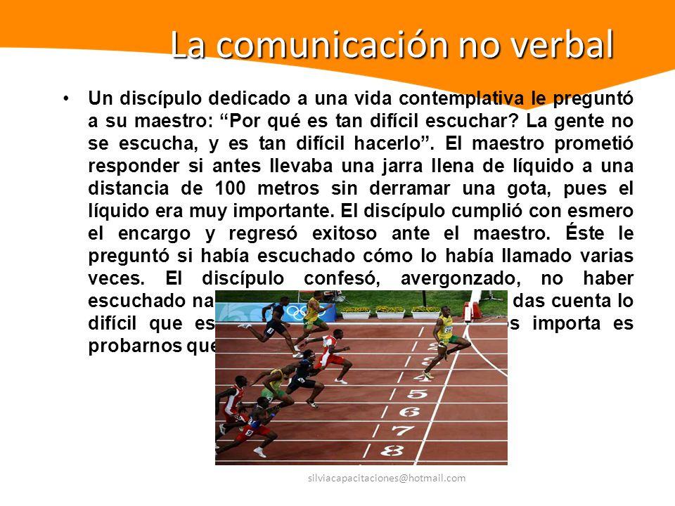 Se refiere a todas aquellas señales relacionadas con la situación de comunicación que no son palabras escritas u orales (Hunt).