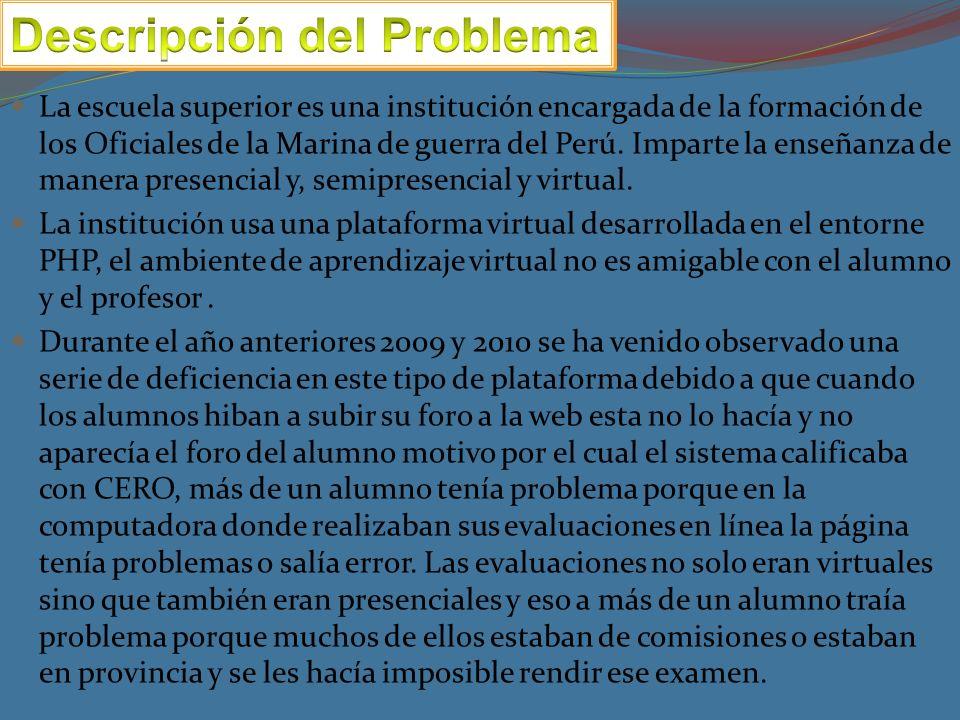 La escuela superior es una institución encargada de la formación de los Oficiales de la Marina de guerra del Perú.