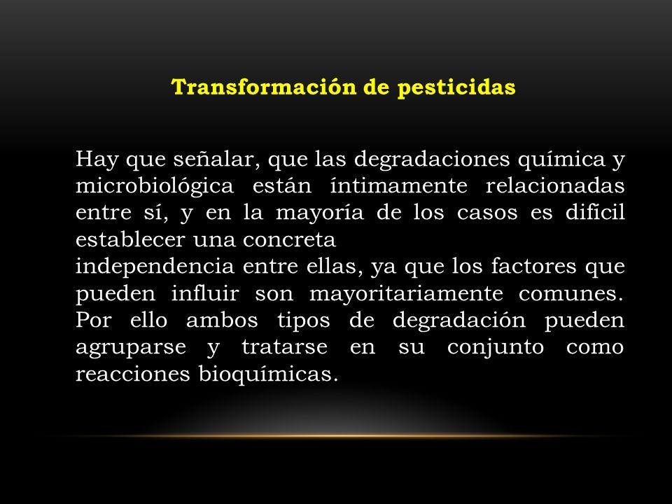 Hay que señalar, que las degradaciones química y microbiológica están íntimamente relacionadas entre sí, y en la mayoría de los casos es difícil estab