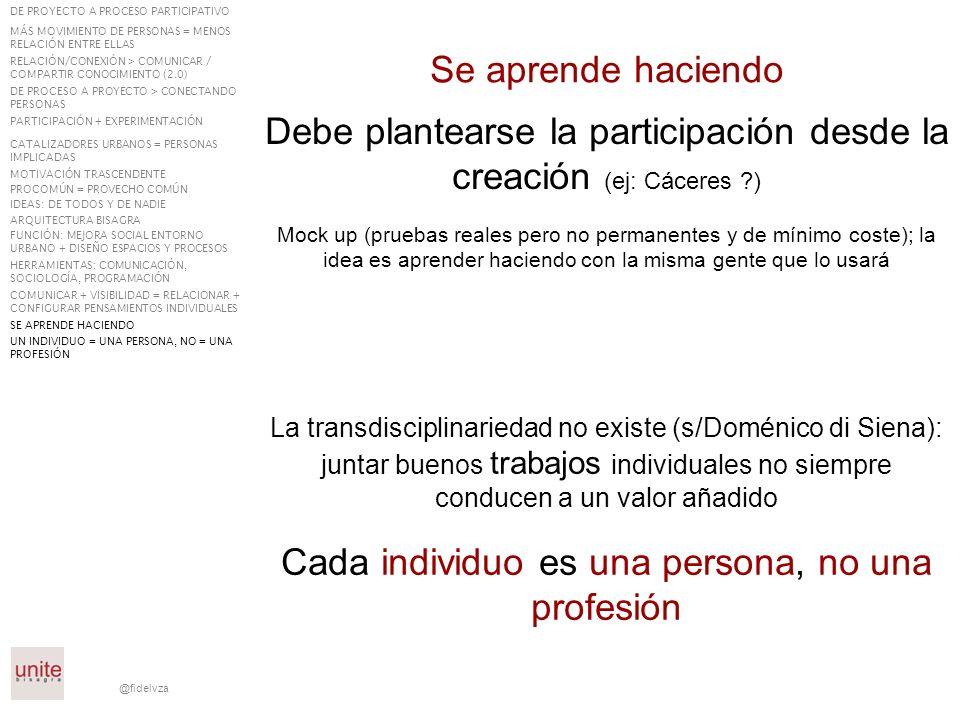 @fidelvza Se aprende haciendo La transdisciplinariedad no existe (s/Doménico di Siena): juntar buenos trabajos individuales no siempre conducen a un v