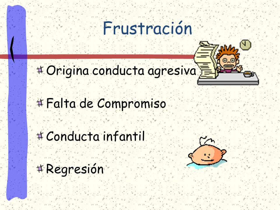 Problemas Psíquicos Emocionales Frustración Aparece cuando una causa externa o la actuación de otra persona impide la satisfacción de un deseo. Confli